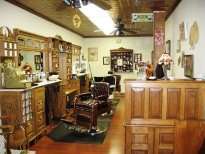 Various photos from the TBS Barbershops' shops